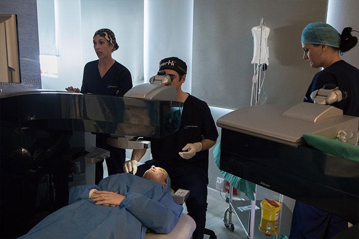 LASIK eye surgery team
